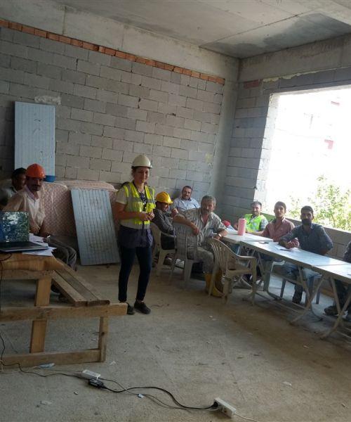 İnşaat Alanında Yapılan Eğitimlerimizden Kareler